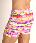LASC Malibu Swim Shorts Pink Waves, view 4