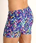 LASC Malibu Swim Shorts Navy Slash, view 4