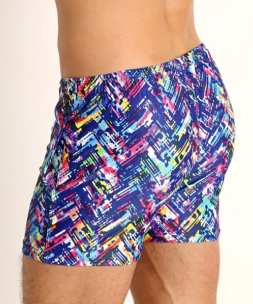 LASC Malibu Swim Shorts Navy Slash