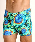 LASC Malibu Swim Shorts Tie Dye Swirls, view 3
