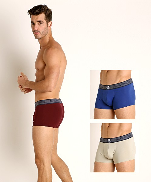 Diesel Shawn Trunks 3-Pack Stone/Cobalt/Burgundy
