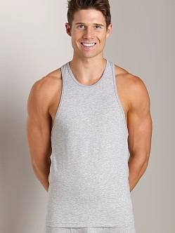 DSQUARED Jersey Cotton Stretch Tank Top Grey