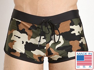 LASC American Square Cut Swim Trunk Camouflage