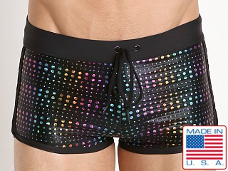 LASC American Square Cut Swim Trunk Sparkle Gems