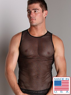 Go Softwear Euro Mesh Tank Top Black
