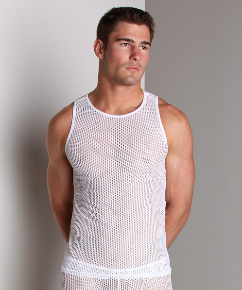 Go Softwear Euro Mesh Tank Top White