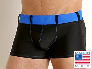 Model in black/royal Go Softwear Bahia Swim Trunk