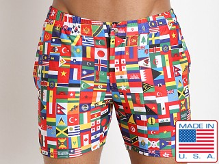 LASC Swim Shorts Flags