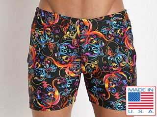 LASC Swim Shorts Black Persia