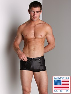 Go Softwear Pleather Snap Boxer Black