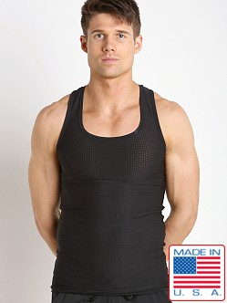 LASC Performance Mesh Tank Top Black