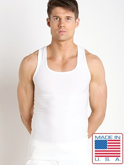 LASC Performance Mesh Tank Top White
