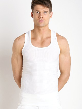 Complete the look: LASC Performance Mesh Tank Top White