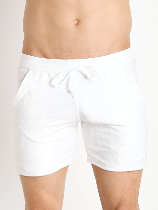 Complete the look: LASC Performance Mesh Workout Short White