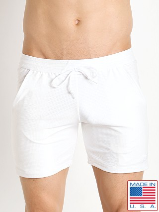LASC Performance Mesh Workout Short White