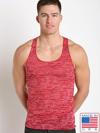 LASC Burn Out String Tank Red