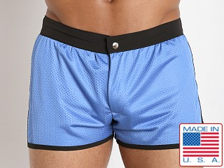 LASC Sixties 2.0 Nylon Mesh Swim Trunk Sky/Black