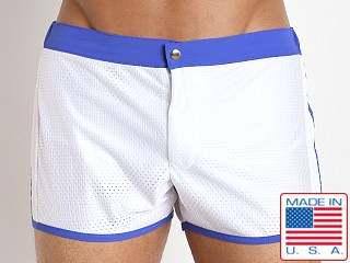 LASC Sixties 2.0 Nylon Mesh Swim Trunk White/Royal
