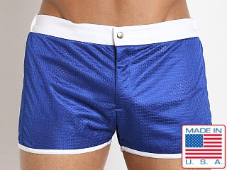LASC Sixties 2.0 Nylon Mesh Swim Trunk Royal/White
