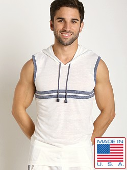 Pistol Pete Catalina Sleeveless Hoody White