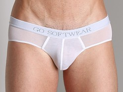 Go Softwear Low Rise Mesh Brief White