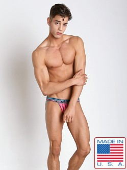 Pistol Pete Chromatic Mesh Striped Jock Fuchsia
