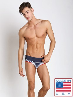 Pistol Pete Admiral Swim Brief w/Anchor Navy
