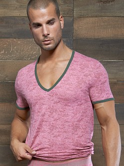 C-IN2 Hand Me Down Ringer Vee Neck Shirt Pink