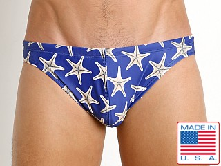 LASC St. Tropez Low Rise Swim Brief Navy Starfish