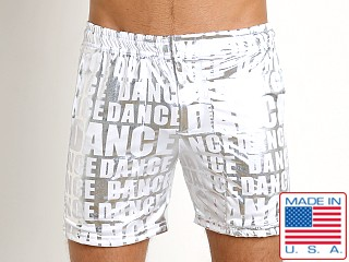 LASC Laguna Swim Shorts Dance White Print
