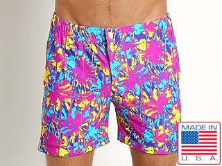 LASC Laguna Swim Shorts Neon Sunset