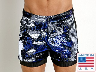 LASC Transformer Sequined Sparkle Trunk Pacific Blue