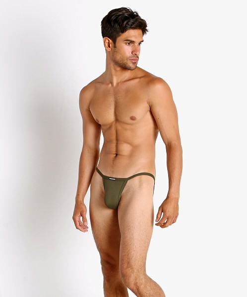 Manstore Soft and Stretchy Tanga Brief Olive
