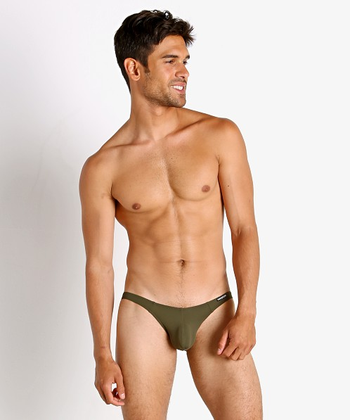 Manstore Soft and Stretchy Super Low Rise Brief Olive
