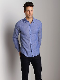 Joe's Jeans Relaxed Shirt Navy Slub
