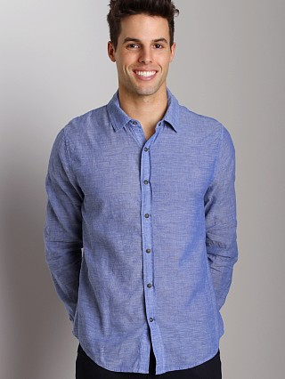 Complete the look: Joe's Jeans Relaxed Shirt Navy Slub