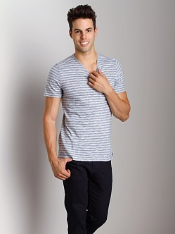 Joe's Jeans Beach Stripe Manni V-Neck Shirt