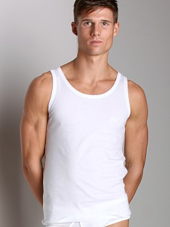 BOSS Hugo Boss Pure Cotton 3 Pack Tank Top White