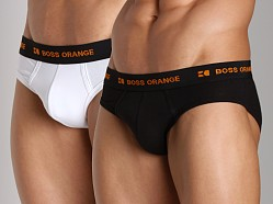 BOSS Hugo Boss Orange Flex Cotton Hip Brief 2-Pack Multi