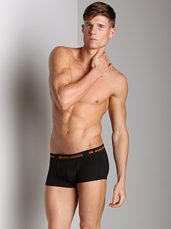BOSS Hugo Boss Orange Flex Cotton Boxer 2-Pack Black