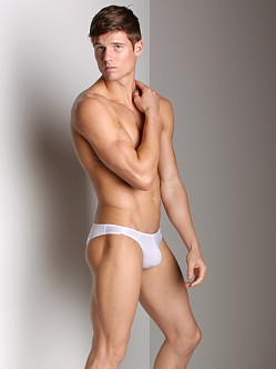 Good Devil Horizontal Lines Jockstrap White