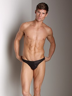 Good Devil Horizontal Lines Thong Black