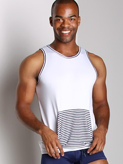 Vuthy Kangaroo Tank Top White/Navy