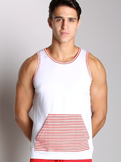 Vuthy Kangaroo Tank Top White/Red