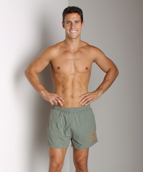 Hugo Boss Male Swim Shorts Dark Green