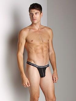 Andrew Christian Burnout Y-Back Thong Black