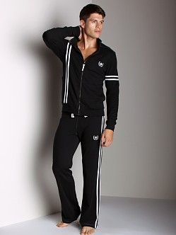 Andrew Christian Laurel Track Jacket Black