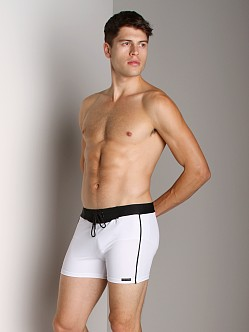 Sauvage Retro Nylon/Lycra Swim Short White