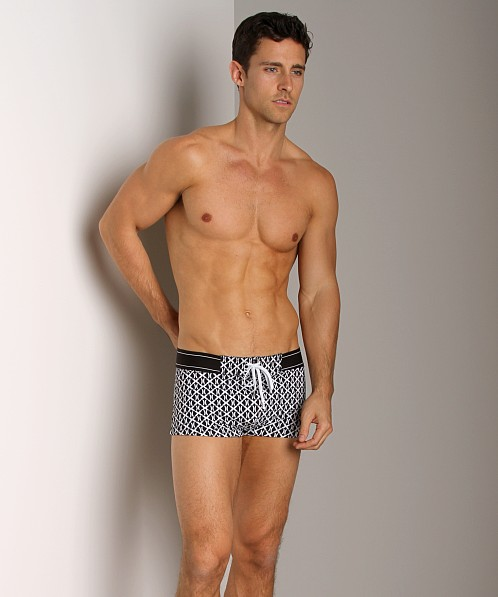 41a4dec2d1f6e 2xist (X)Print Cabo Knit Swim Trunk Black 36073035-00101 at International  Jock