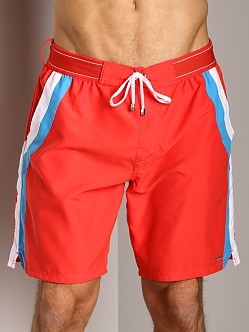 2xist Sport Maui Woven Board Shorts Poppy Red